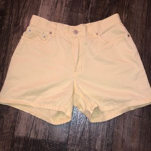 Yellow mid rise Tommy Hilfiger shorts